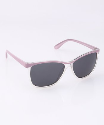 Lilac Clear Rim Sunglasses