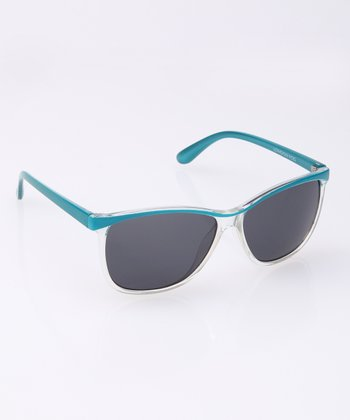 Blue Clear Rim Sunglasses