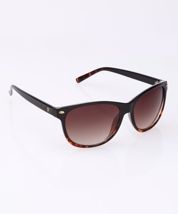 Black & Tortoise Logo Temple Sunglasses