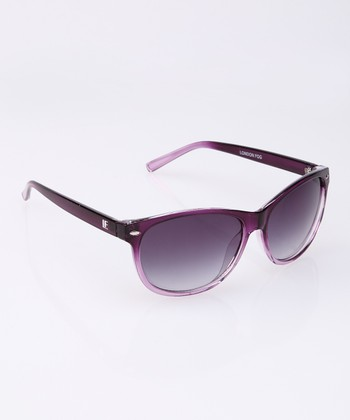 Purple Fade Logo Sunglasses