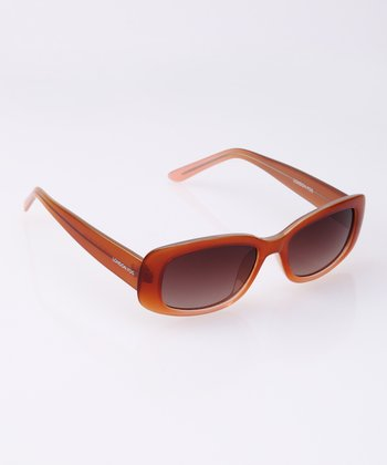 Tangerine Flare Rectangle Sunglasses
