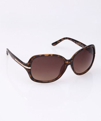 Brown Horn Crystal Sunglasses