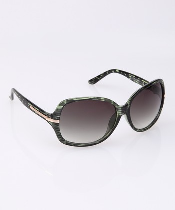Green Horn Crystal Sunglasses