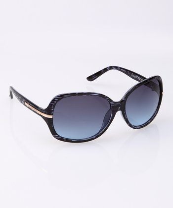 Blue Horn Crystal Sunglasses