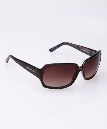 Dark Tortoise Plaid Sunglasses