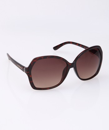 Tortoise Geometric Sunglasses