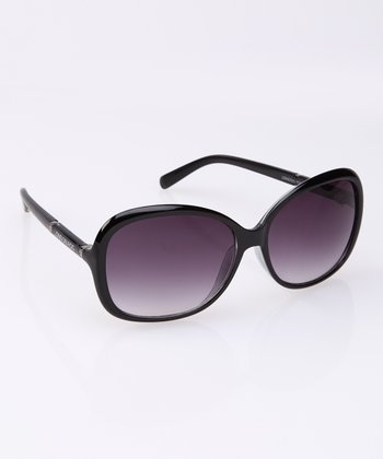 Black & Silver Band Square Sunglasses