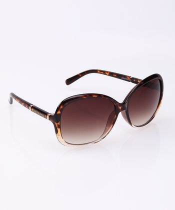 Dark Tortoise & Gold Butterfly Sunglasses
