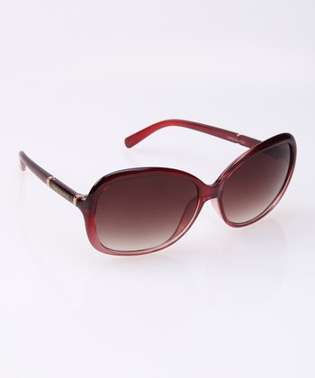 Raspberry Crystal Fade Sunglasses