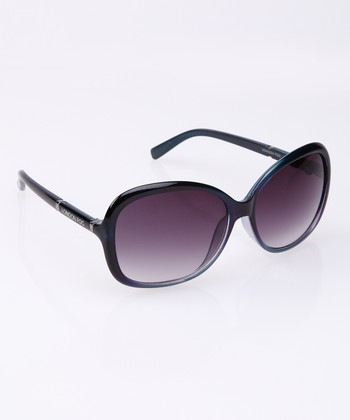 Navy Crystal Fade Sunglasses