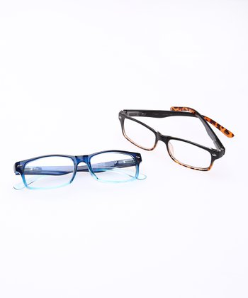 Navy & Black Tortoise Reading Glasses Set