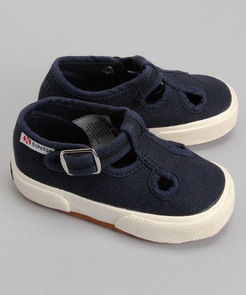 Navy 205 T-Strap - Toddler & Girls