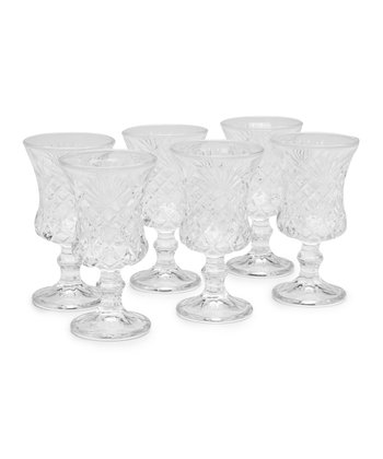 Diamond Goblet - Set of Six