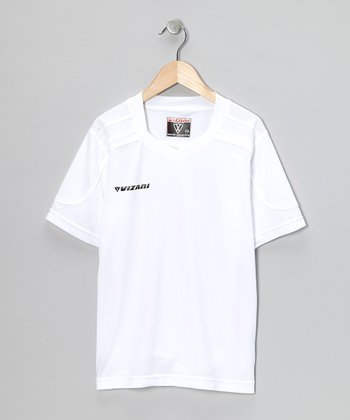 White Monaco Soccer Jersey - Kids & Adults