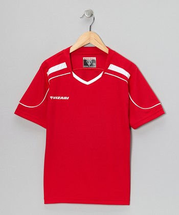 Red Monaco Soccer Jersey - Kids & Adults