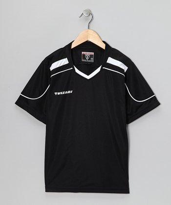 Black Monaco Soccer Jersey - Kids & Adults