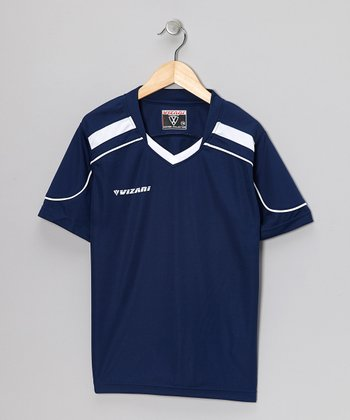 Navy Monaco Soccer Jersey - Kids & Adults