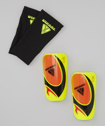Yellow & Red Pro Lite Shin Guards