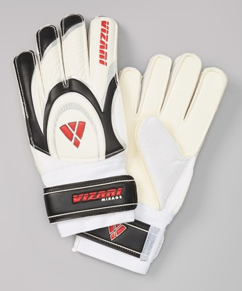 Black & Red Mirage Goalkeeper Gloves - Kids