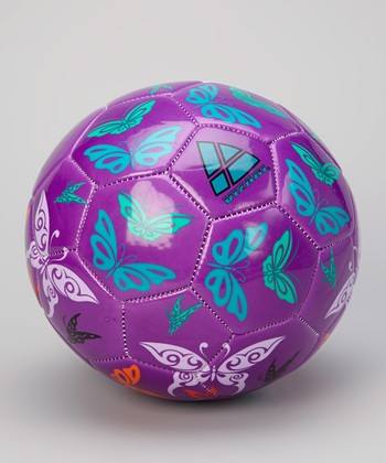 Purple & Orange Butterflies Soccer Ball