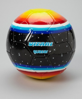 Black & Yellow Quasar Soccer Ball