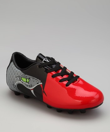 Black & Red Snake Cleat - Kids
