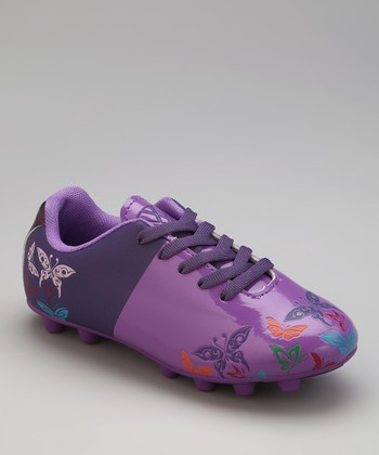 Purple & Orange Butterfly Cleat - Kids