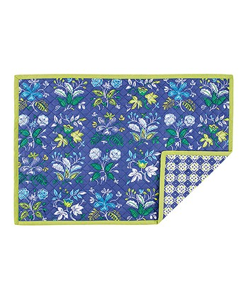 Periwinkle Botanical Quilted Place Mat - Set of Four