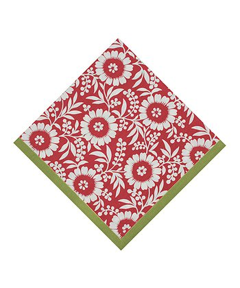 Red & Green Colette Napkin - Set of Four