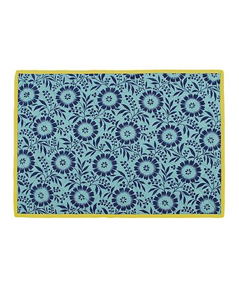 Aqua & Yellow Colette Place Mat - Set of Four