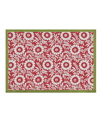 Red & Green Colette Place Mat - Set of Four