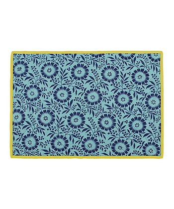 Aqua & Yellow Colette Quilted Place Mat - Set of Four