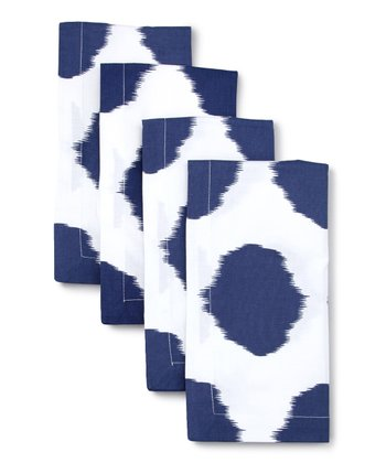 Navy Ikat Dot Napkin - Set of Four