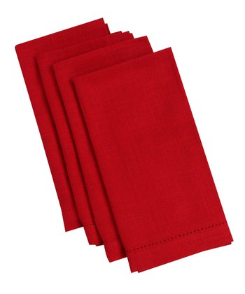 Red Rustic Napkin - Set of Four