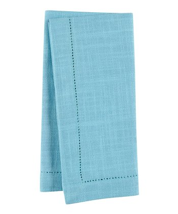 Sky Blue Rustic Napkin - Set of Four