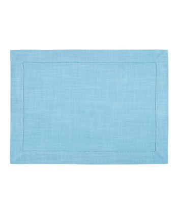 Sky Blue Rustic Place Mat - Set of Four