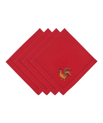 Red Rooster Napkin - Set of Four