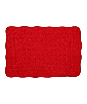 Red Boutis Place Mat - Set of Four