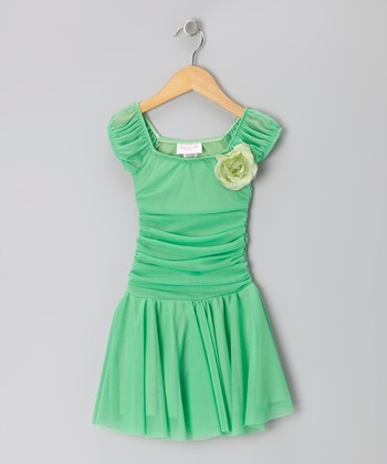 Clover Ruched Cap-Sleeve Dress - Toddler & Girls