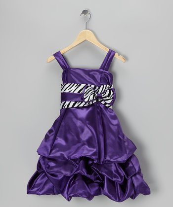 Purple Zebra Pickup Dress - Toddler & Girls