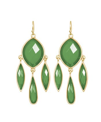 Green Madeleine Drop Earrings