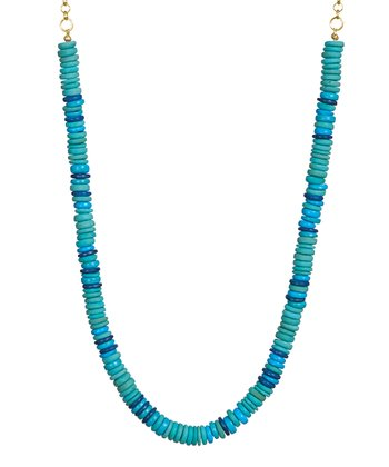 Turquoise Tonal Pope Necklace
