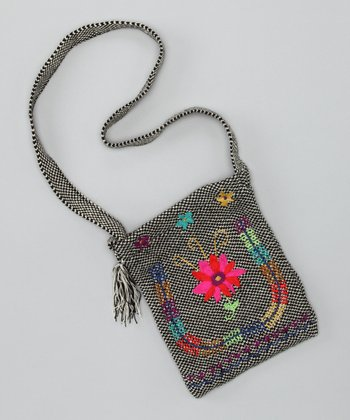 Pink & Orange Guatemalan Crossbody Bag
