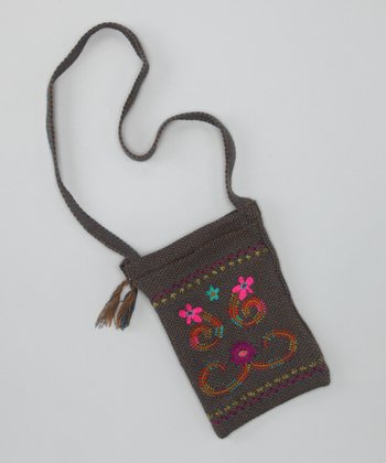 Purple & Pink Guatemalan Crossbody Bag