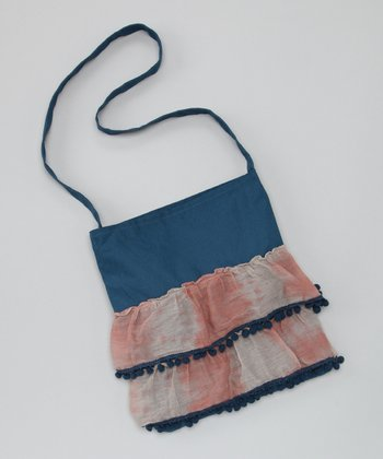 Navy & Pink Crossbody Bag