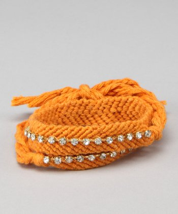 Orange Friendship Wrap Bracelet