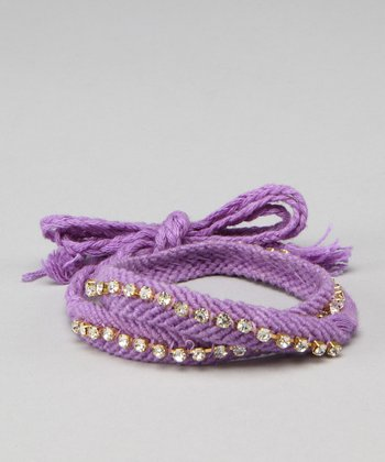Purple Friendship Wrap Bracelet