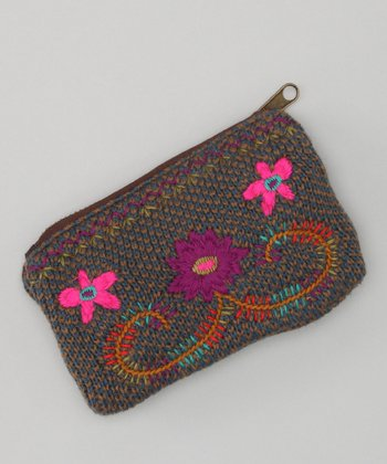 Purple & Pink Guatemalan Coin Purse