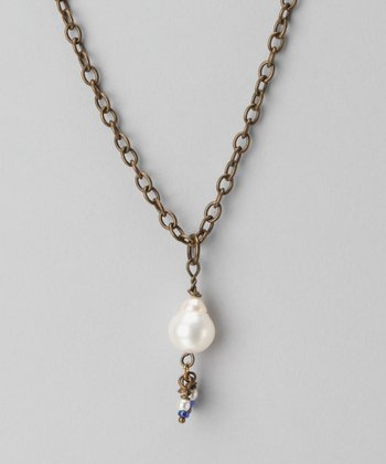 Blue & Pearl Gypsy Hanna Necklace