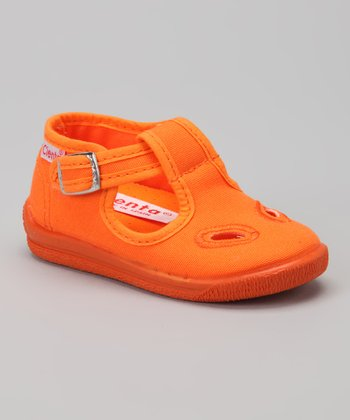 Orange T-Strap Shoe - Girls